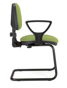UF 307 / S, Stuhl auf Kufen mit Armlehnen und verstellbare Rückenlehne