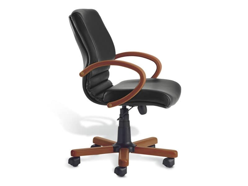Digital Wood 02, Chefsessel, Holzsockel, für das Büro
