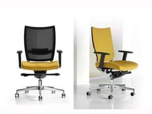 Nest, Verstellbarer Stuhl, Aluminiumrahmen, für den professionellen Studio