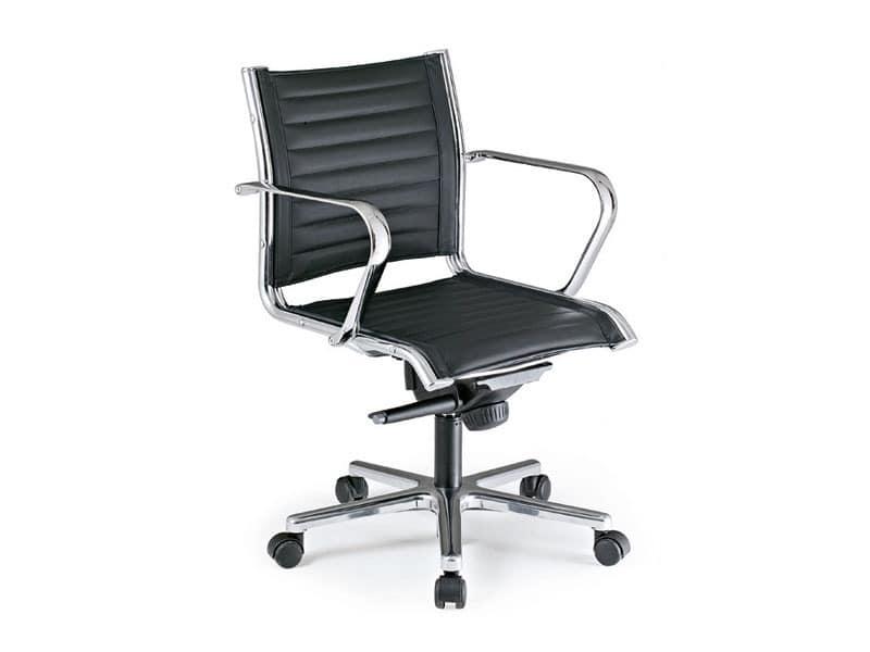 Origami TD executive 70020, Directional Bürostuhl, in Leder bezogen