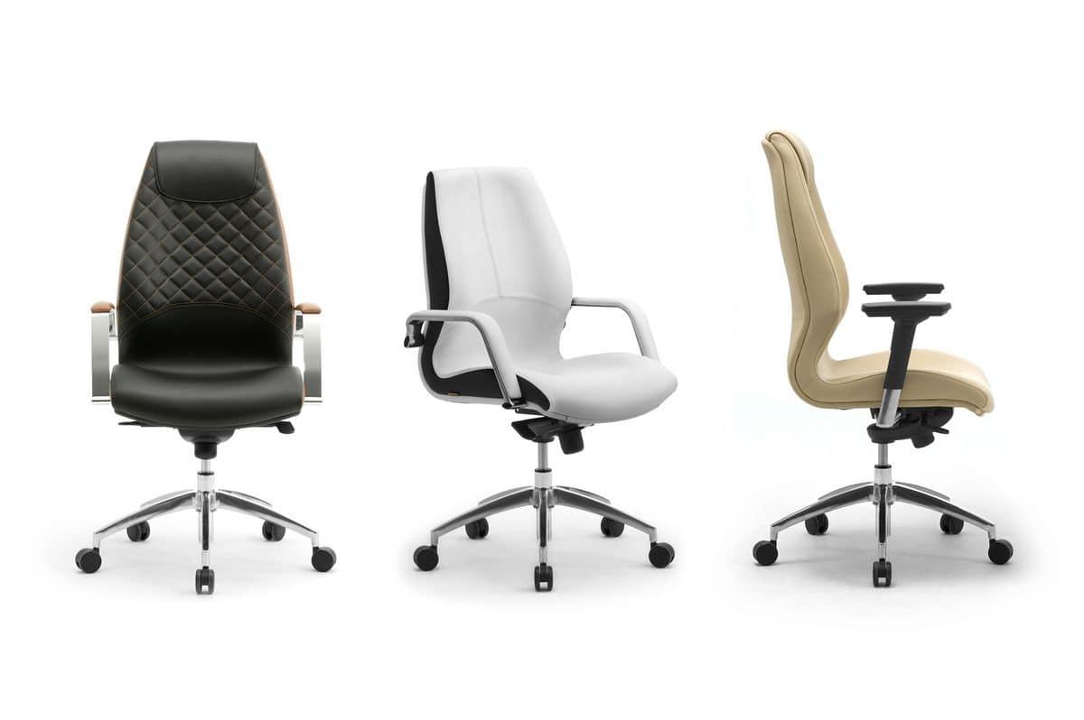 Wave executive 1502, Executive-Bürostuhl, in Leder bezogen