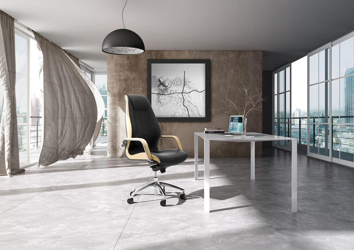 Wave tall executive 1505, Bürosessel mit gepolsterter Rückenlehne hoch