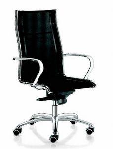 11509 Jolly, Bürosessel aus Mesh, mit hoher Rückenlehne