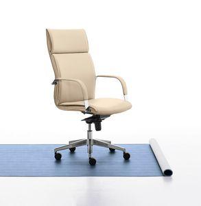 Berlin 01, Chefsessel mit hoher Rückenlehne für Büro