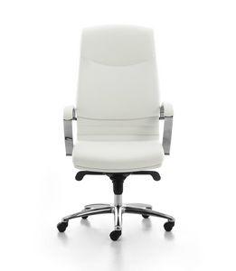 Digital Chrome 01, Directional gepolsterten Stuhl mit hohem Rücken für Büro