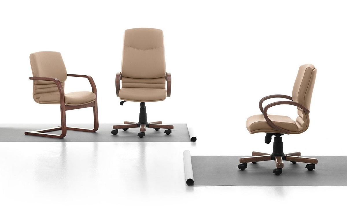 Digital Wood 01, Chefsessel mit hoher Rückenlehne, gepolstert, für das Büro