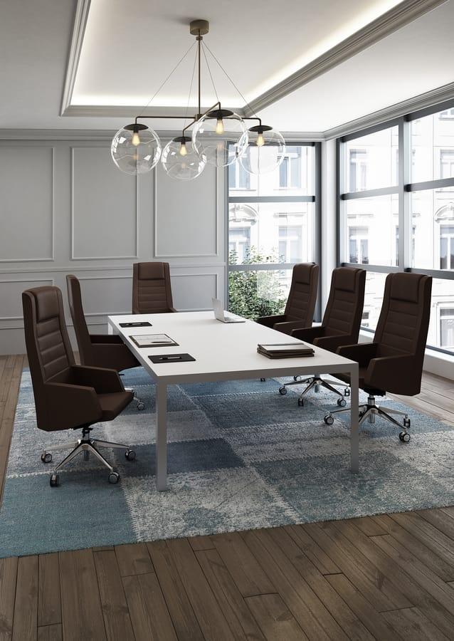 Kamelia, Managerial Stuhl mit Rädern, für Office Professional