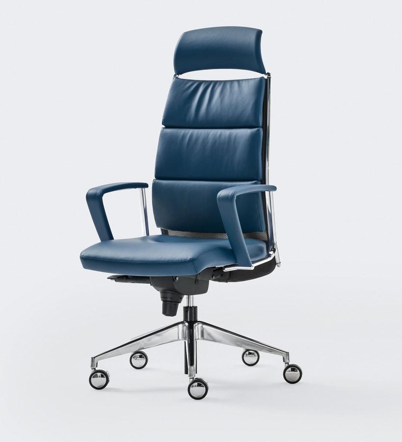LINK XPLUS, Polstersessel für Büro, hohe Rückenlehne, ideal für den erweiterten Einsatz