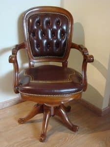 Art. 275, Drehstuhl für Büros, getuftete Leder