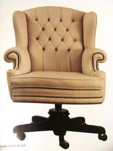 Art. 281, Bürostuhl aus Leder, Drehelement, für das Büro