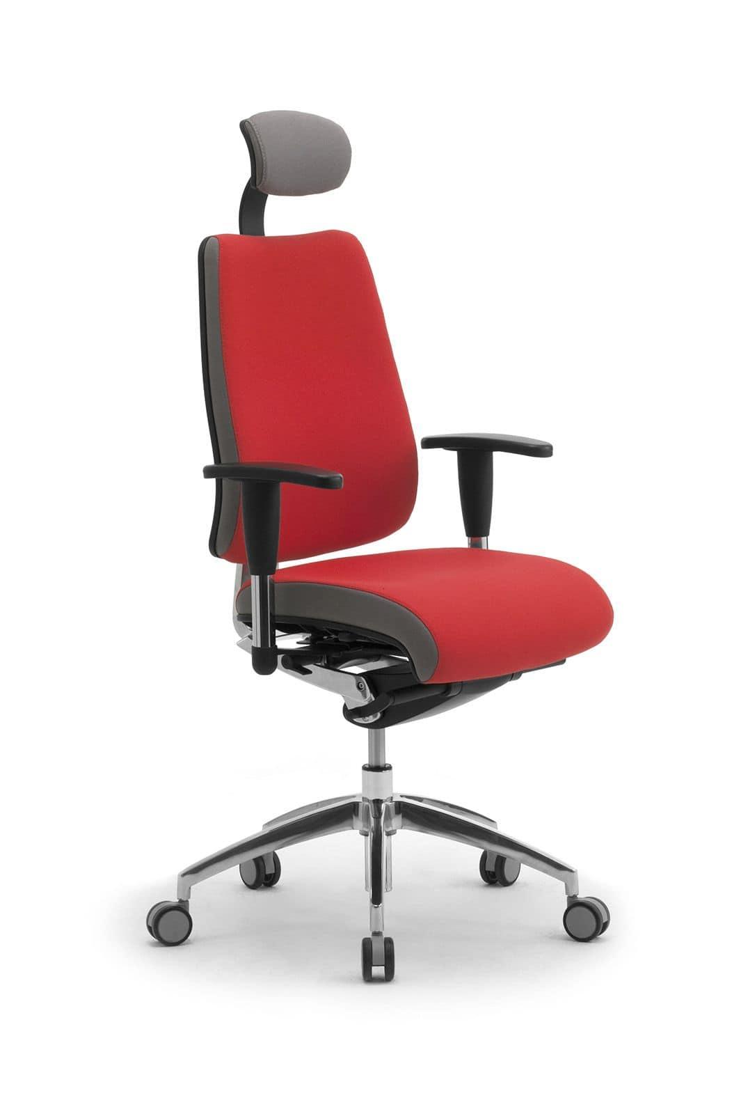 DD Dinamica high executive 53702, Bürostuhl auf Rollen, mit Kopfstütze