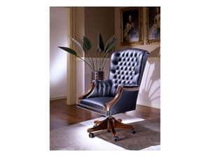 Fiore, Luxuriöse Sessel für Schreibtisch, verstellbare Schwenk