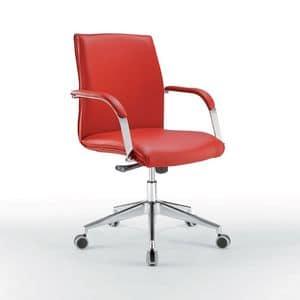 Araiss niedrig, Bürostuhl mit niedriger Rückenlehne, Metallsockel