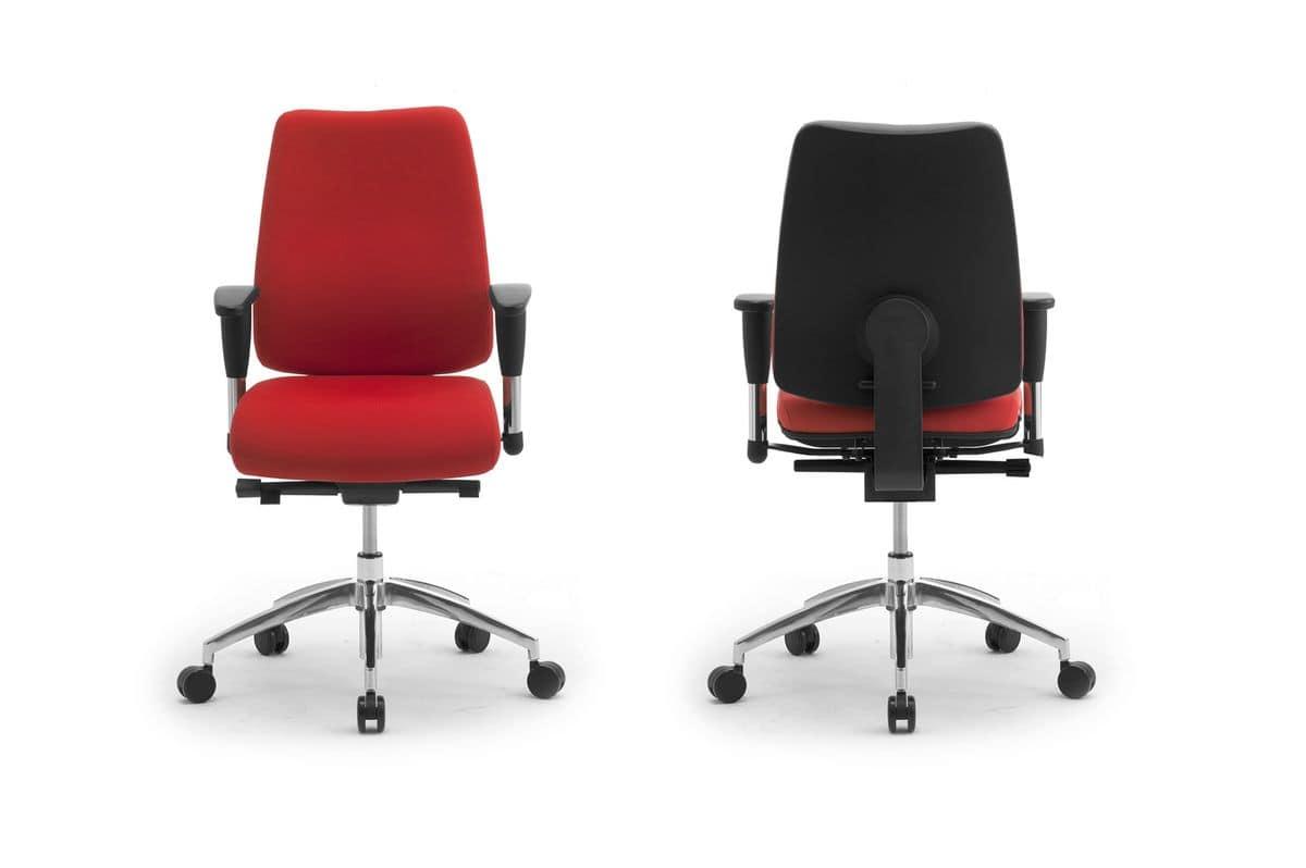 DD 2 task 53722, Operativen Bürostuhl, gepolsterter Sitz und Rückenlehne