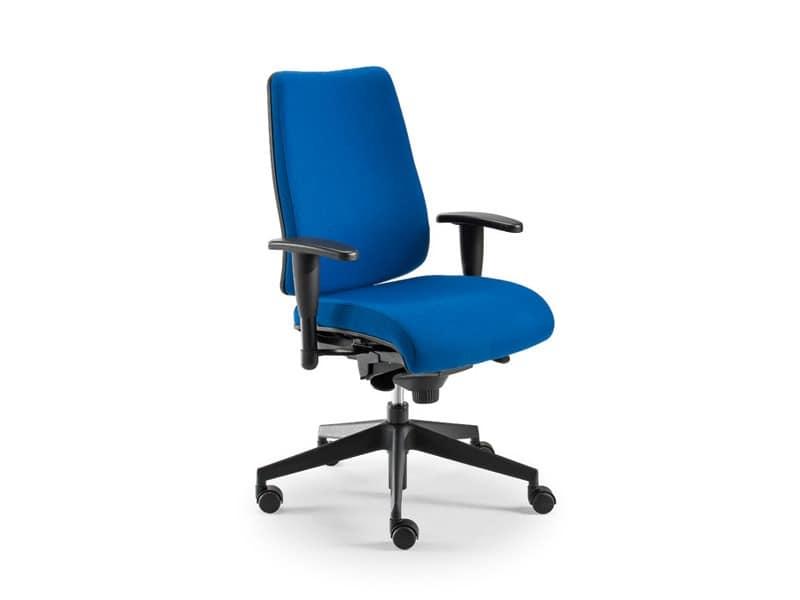 DD 2 task 53732, Bürostuhl mit gepolstertem Sitz und Rückenlehne