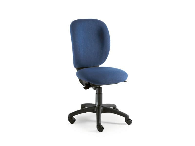 Gummy task 0960, Bürostuhl ohne Armlehnen, hohe Rückenlehne