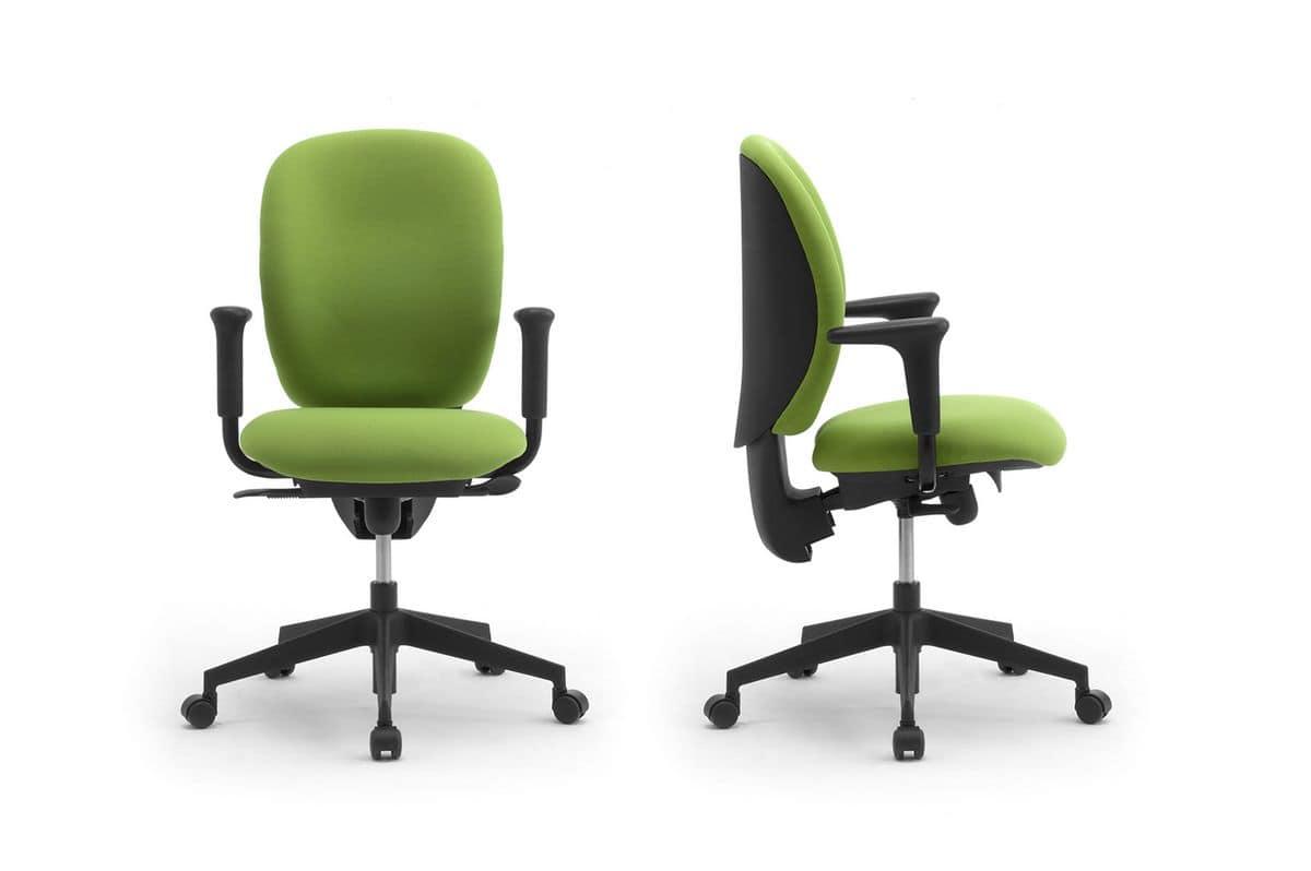 Gummy task 09605, Operativen Bürostuhl, ergonomisch und verstellbar