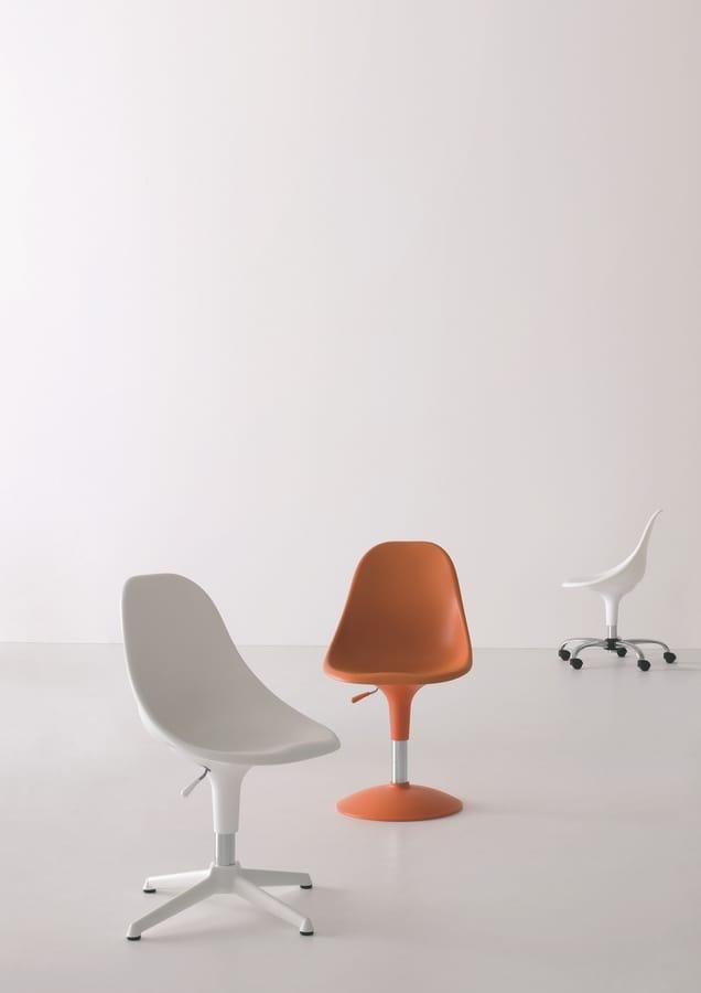 Harmony BC, Stuhl mit Rollen, in verschiedenen Farben, für das Büro