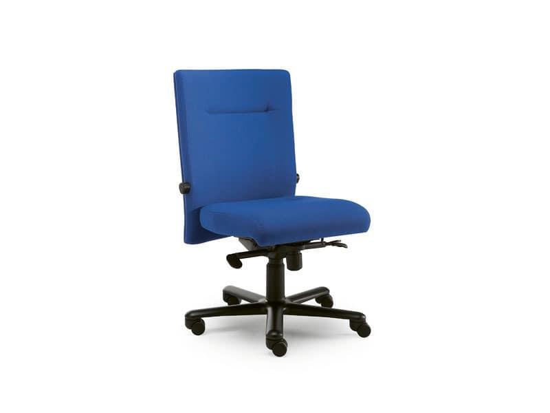 Non Stop task 24hc 51102, Bürostuhl mit Stoff bespannt, ohne Armlehnen