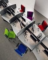 Non Stop task 24hc 51150, Bürostuhl mit Rollen, ideal für Call-Center