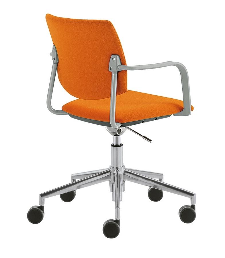 Q44, Drehbarer Bürostuhl mit Rädern