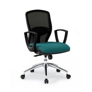 Sprint RE 179282R, Bürostuhl mit gepolstertem Sitz und Rückenlehne in Maschen