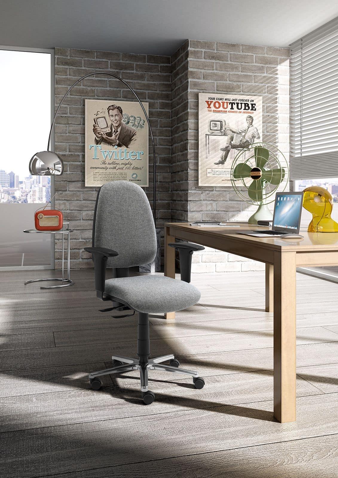 Synchron Jolly task 195759, Drehstuhl auf Rollen, mit Stoff bespannt, für das Büro