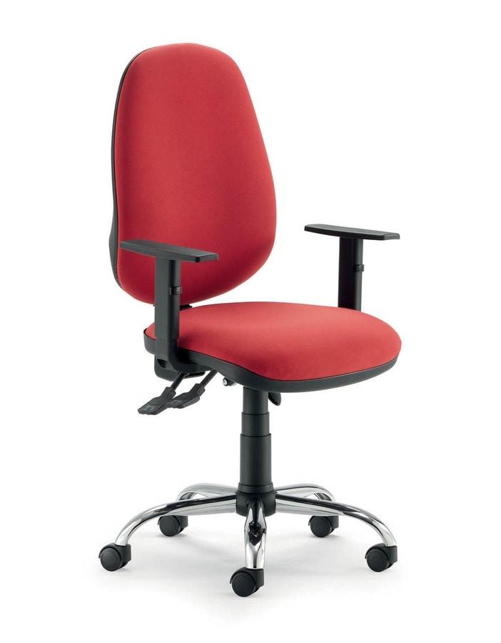 UF 315, Stuhl mit Rädern und Synchronmechanik, in verschiedenen Farben