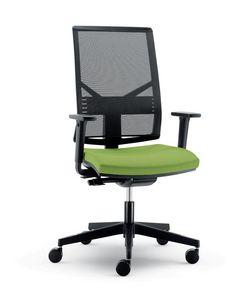 UF 431 / B, Moderne Sessel mit Netzrücken und Rädern, für das Büro