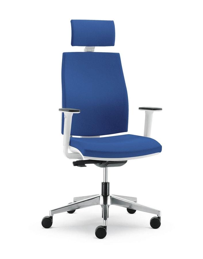 UF 442 / A, Weichen Stuhl mit Nylonhülle, für moderne Büro