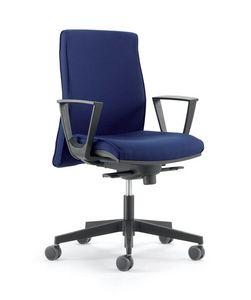 UF 446 / B, Mit Rädern Stuhl, mit verstellbaren Armlehnen, für das Büro