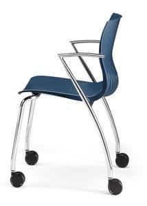WEBBY 334 R, Stuhl mit Metallgestell, feuerhemmenden Nylonhülle