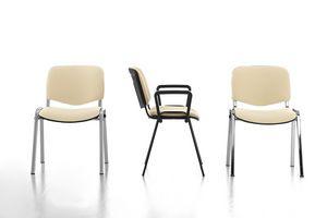 Leo Soft, Gepolsterte Büro einfachen Stuhl, Metallsockel