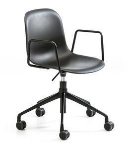Máni plastic AR HO, Stuhl mit Rädern für Büro, höhenverstellbar