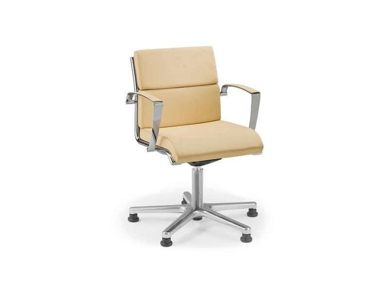 Origami CU guest 70435, Gepolsterter Stuhl mit Rollen für Büro