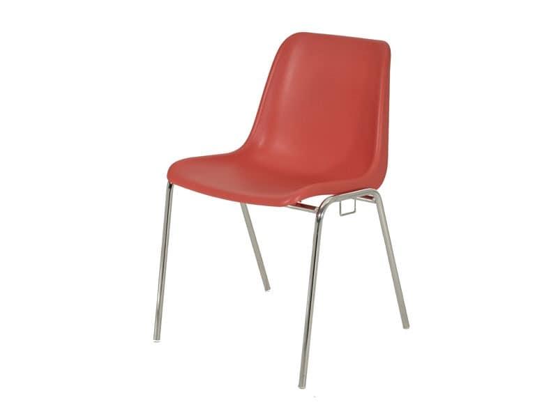 SE 039, Stapelstuhl aus Metall und Kunststoff für Konferenzräume