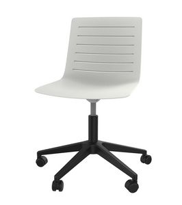 Slim 04, Stuhl aus Polypropylen mit Kunststoff-5-Speichen