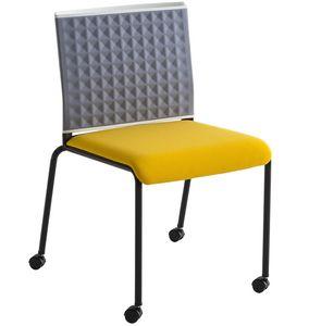 Teckel T R, Stuhl auf Rädern mit thermogeformter Rückenlehne