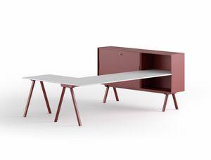 Workstation 2027 L, Schreibtisch mit L-förmiger Oberseite