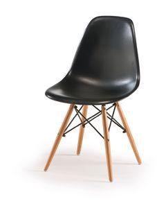 SE 507, ABS-Stuhl mit Buchenbeinen