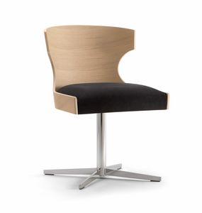 XIE SIDE CHAIR 052 S X, Stuhl mit Kreuzfuß, gepolsterter Sitz