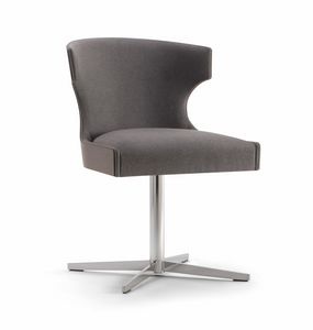 XIE SIDE CHAIR 053 S X, Stuhl mit Metallkreuzbasis