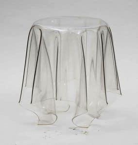 Art. 541 Fantasmino, Couchtisch aus transparentem Polycarbonat, auch für den Außenbereich