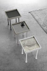 FRAME S TL527, Kleiner Tisch mit Feinsteinzeugplatte