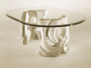 Prince, Tabelle mit Sockel aus Stein und oben in Glas