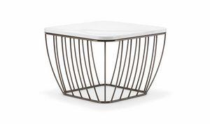 SEATTLE COFFEE TABLE 089, Kleine Tische mit leichtem und raffiniertem Boden