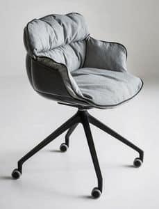 Choppy UR, Sessel Design, Metallgestell mit Rädern