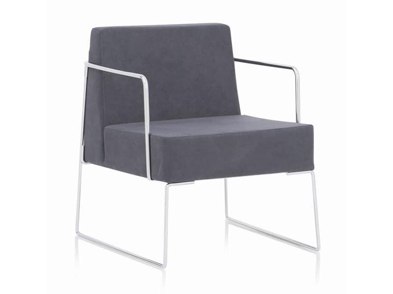 Kalida 604C , Sessel mit Kufen, moderner Stil, für Bar und Rezeption