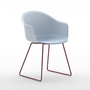 Máni Armshell plastic 4WL, Sessel mit Schlittenbasis