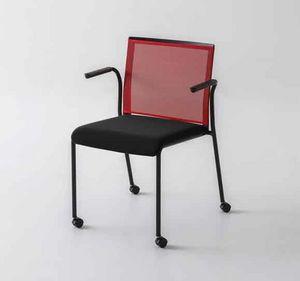 Teckel B R, Bürostuhl mit Rädern und Netzrücken
